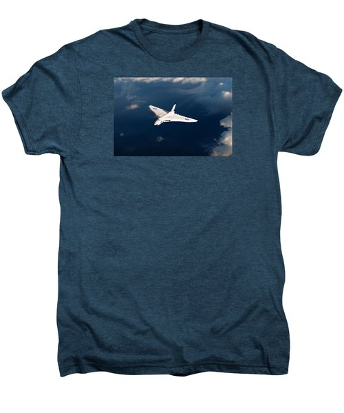 Men's Premium T-Shirt featuring the digital art White Vulcan B1 At Altitude by Gary Eason