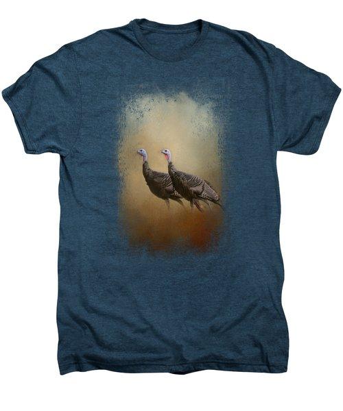 Wild Turkey At Shiloh Men's Premium T-Shirt