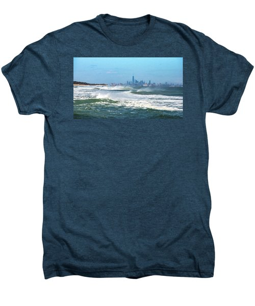 Windy View Of Nyc From Sandy Hook Nj Men's Premium T-Shirt