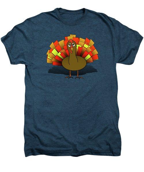Worried Turkey Illustration Men's Premium T-Shirt
