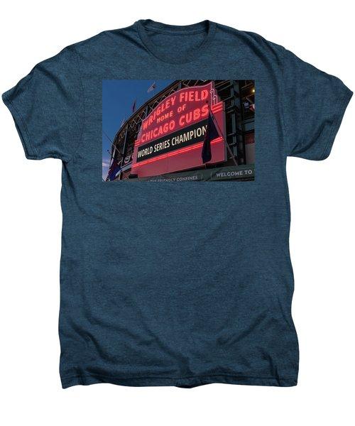 Wrigley Field World Series Marquee Men's Premium T-Shirt by Steve Gadomski