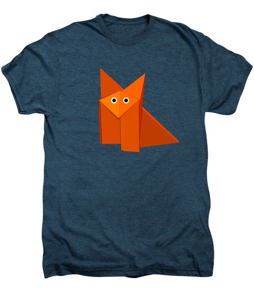 Yellow Cute Origami Fox Men's Premium T-Shirt