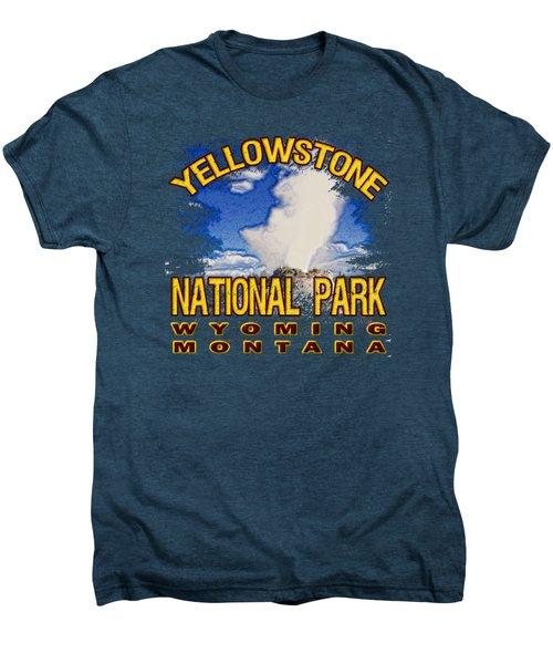 Yellowstone National Park Men's Premium T-Shirt by David G Paul