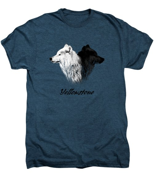 Yellowstone Wolves T-shirt Men's Premium T-Shirt by Max Waugh