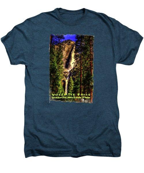 Yosemite Falls Framed By Ponderosa Pines Men's Premium T-Shirt by Roger Passman