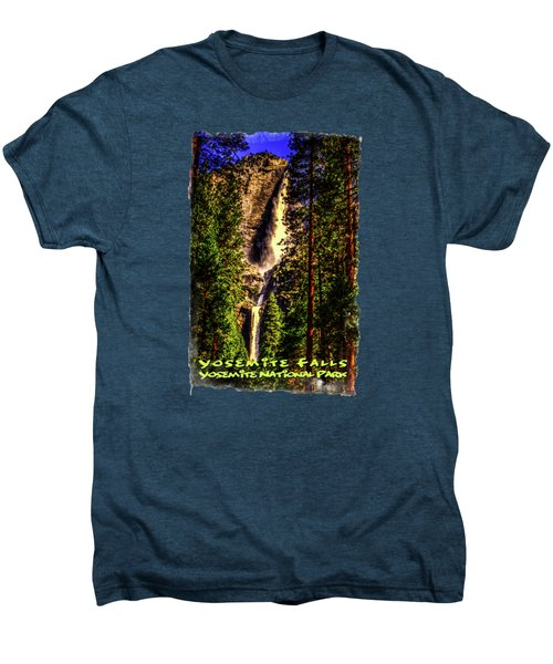 Yosemite Falls Framed By Ponderosa Pines Men's Premium T-Shirt
