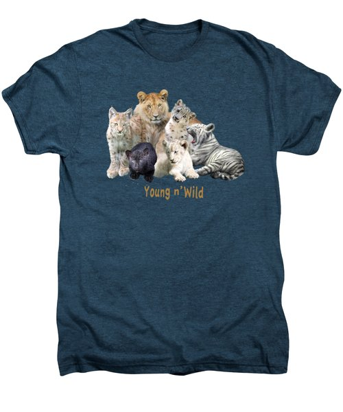 Young And Wild Men's Premium T-Shirt by Carol Cavalaris
