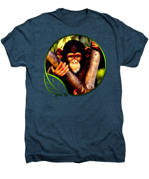 Young Chimpanzee Men's Premium T-Shirt by Dan Pagisun
