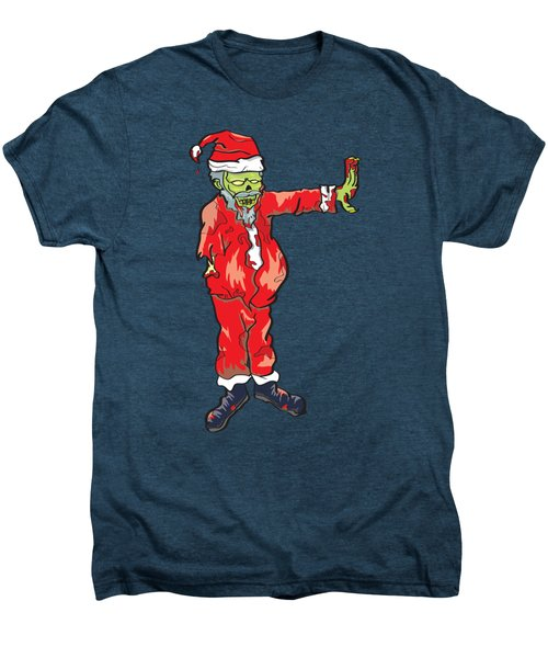 Men's Premium T-Shirt featuring the drawing Zombie Santa Claus Illustration by Jorgo Photography - Wall Art Gallery
