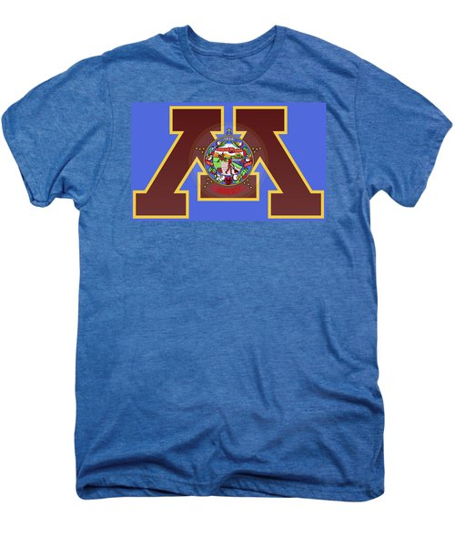 U Of M Minnesota State Flag Men's Premium T-Shirt by Daniel Hagerman