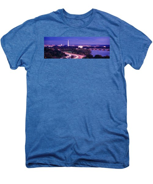 High Angle View Of A Cityscape Men's Premium T-Shirt by Panoramic Images