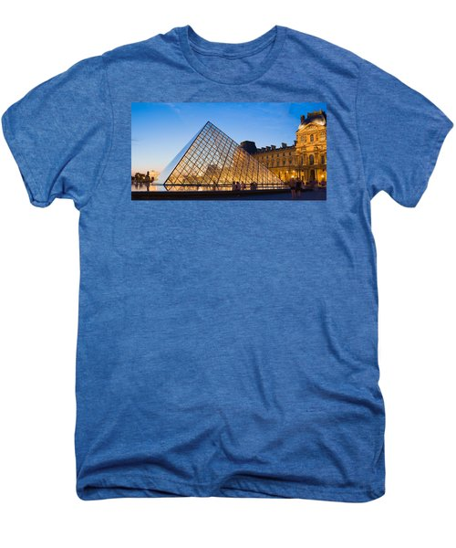 Pyramid In Front Of A Museum, Louvre Men's Premium T-Shirt