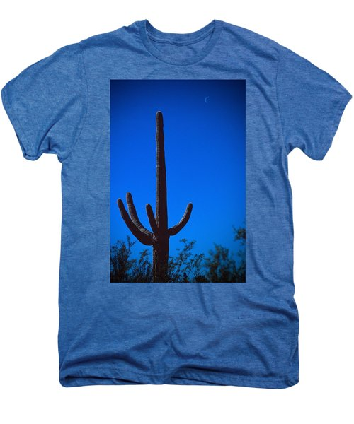 Cactus And Moon Men's Premium T-Shirt