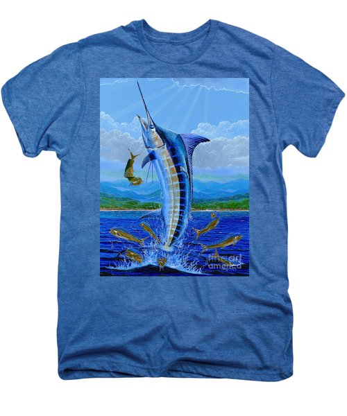 Caribbean Blue Off0041 Men's Premium T-Shirt by Carey Chen