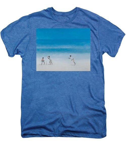 Cricket On The Beach, 2012 Acrylic On Canvas Men's Premium T-Shirt
