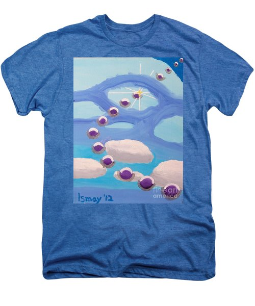 Men's Premium T-Shirt featuring the painting Finding Personal Peace by Rod Ismay