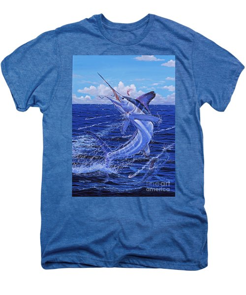 Flat Line Off0077 Men's Premium T-Shirt by Carey Chen