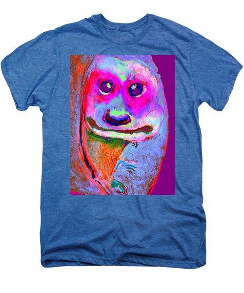 Funky Meerkat Tunnel Art Print Men's Premium T-Shirt