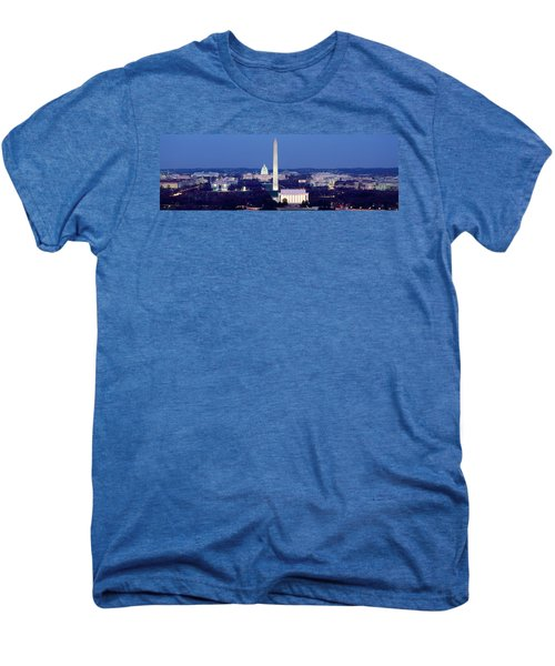 High Angle View Of A City, Washington Men's Premium T-Shirt