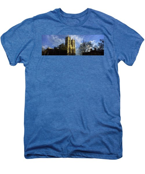 Low Angle View Of An Abbey, Westminster Men's Premium T-Shirt