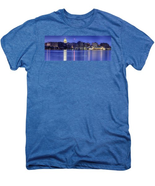 Madison Skyline Reflection Men's Premium T-Shirt by Sebastian Musial
