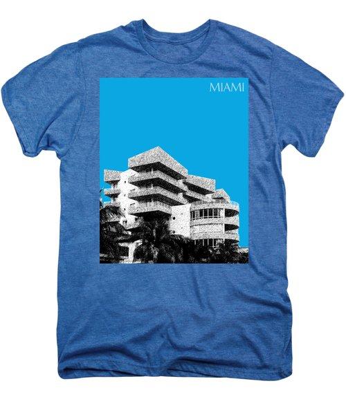 Miami Skyline Art Deco District - Ice Blue Men's Premium T-Shirt