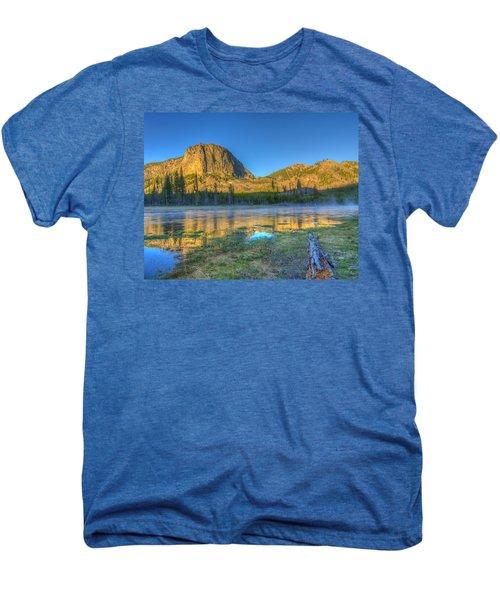 Mt. Hayes Alpine Glow Yellowstone National Park Men's Premium T-Shirt