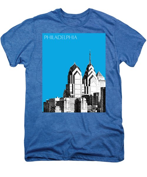 Philadelphia Skyline Liberty Place 1 - Ice Blue Men's Premium T-Shirt