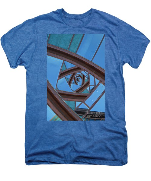 Men's Premium T-Shirt featuring the photograph Revolving Blues. by Clare Bambers