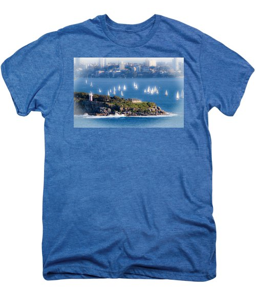 Men's Premium T-Shirt featuring the photograph Sails Out To Play by Miroslava Jurcik
