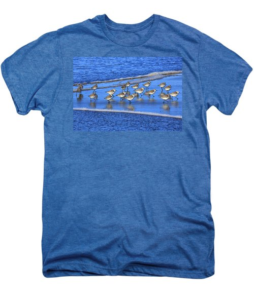 Sandpiper Symmetry Men's Premium T-Shirt by Robert Bynum
