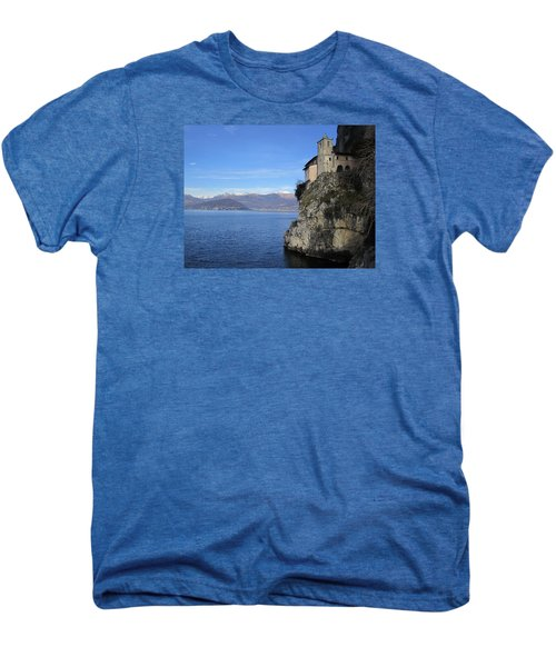 Men's Premium T-Shirt featuring the photograph Santa Caterina - Lago Maggiore by Travel Pics