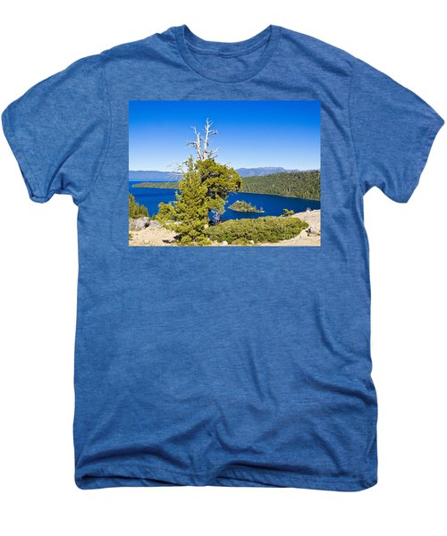 Sky Blue Water - Emerald Bay - Lake Tahoe Men's Premium T-Shirt