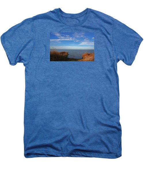 Men's Premium T-Shirt featuring the photograph Sky Water And Grasses by Nareeta Martin