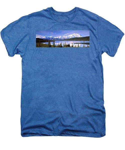 Snow Covered Mountains, Mountain Range Men's Premium T-Shirt