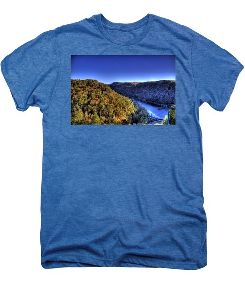 Sun Setting On Fall Hills Men's Premium T-Shirt