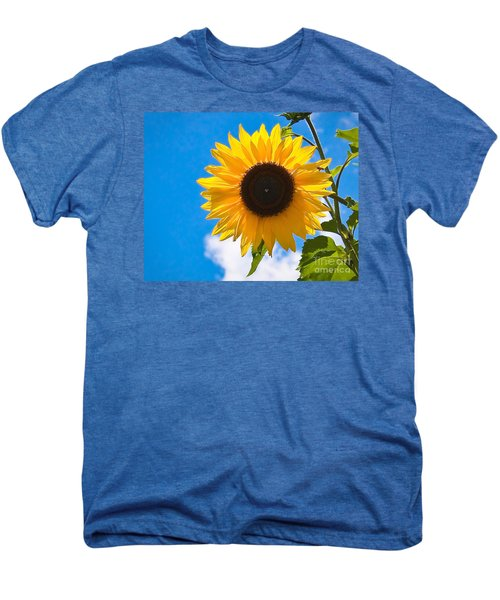 Sunflower And Bee At Work Men's Premium T-Shirt