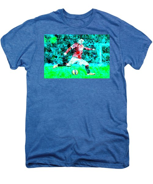 Wayne Rooney Splats Men's Premium T-Shirt by Brian Reaves