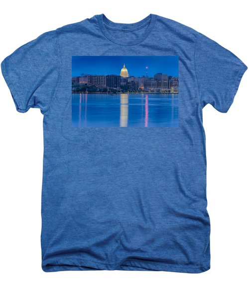 Men's Premium T-Shirt featuring the photograph Wisconsin Capitol Reflection by Sebastian Musial
