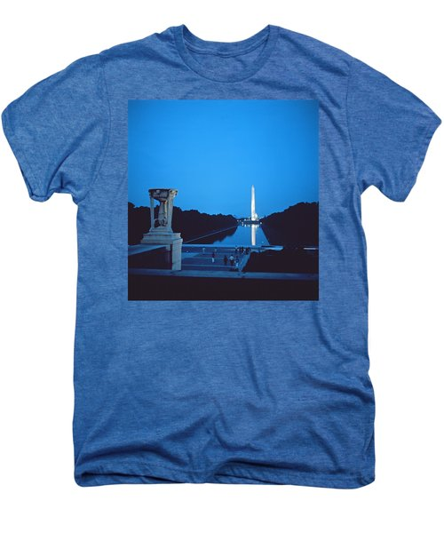 Night View Of The Washington Monument Across The National Mall Men's Premium T-Shirt by American School