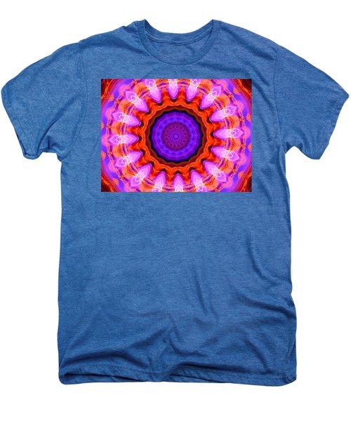 Pink 16-petals Kaleidoscope Men's Premium T-Shirt