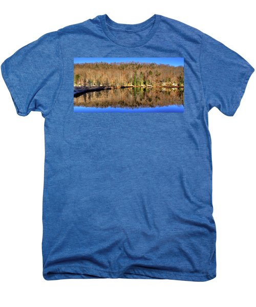 Men's Premium T-Shirt featuring the photograph Pond Reflections by David Patterson