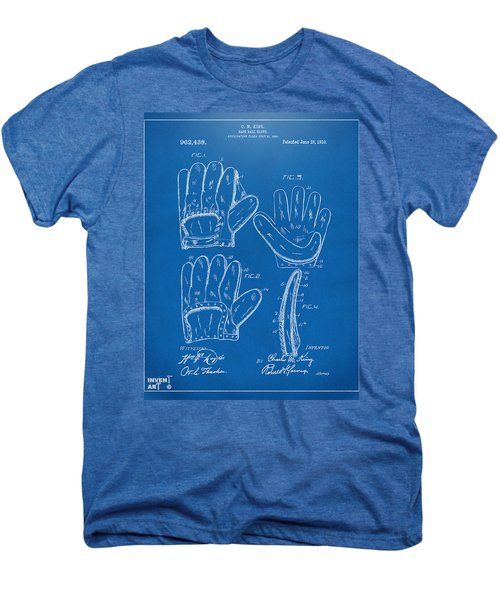 1910 Baseball Glove Patent Artwork Blueprint Men's Premium T-Shirt by Nikki Marie Smith
