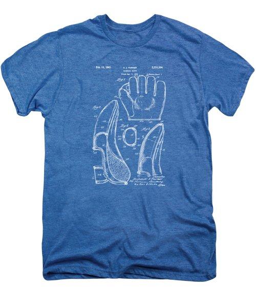 1941 Baseball Glove Patent - Blueprint Men's Premium T-Shirt by Nikki Marie Smith