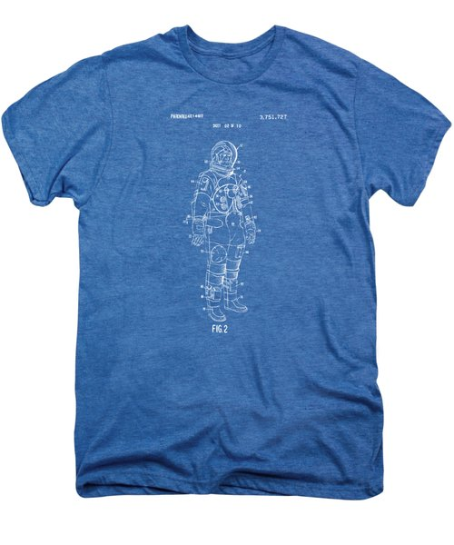 1973 Astronaut Space Suit Patent Artwork - Blueprint Men's Premium T-Shirt by Nikki Marie Smith