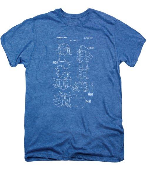 1973 Space Suit Elements Patent Artwork - Blueprint Men's Premium T-Shirt by Nikki Marie Smith