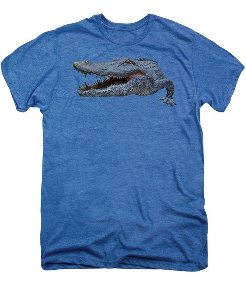 1998 Bull Gator Up Close Transparent For Customization Men's Premium T-Shirt by D Hackett