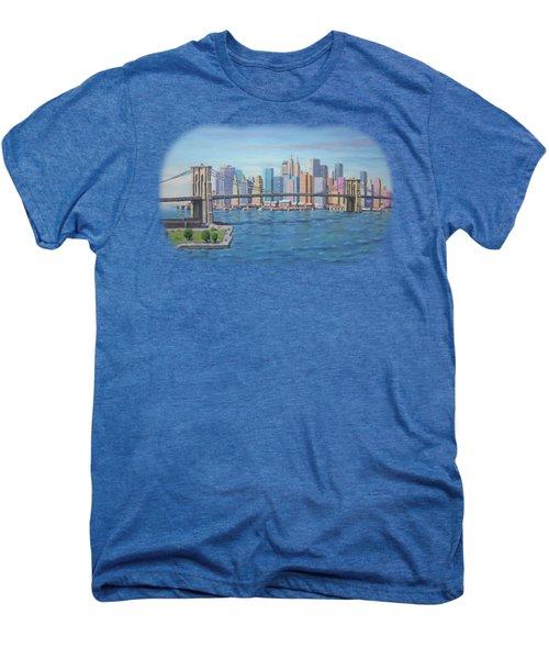 New York Brooklyn Bridge Men's Premium T-Shirt