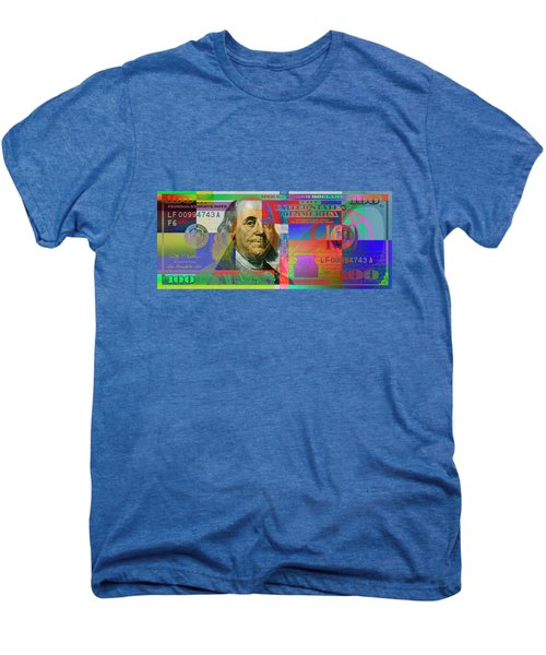 2009 Series Pop Art Colorized U. S. One Hundred Dollar Bill No. 1 Men's Premium T-Shirt