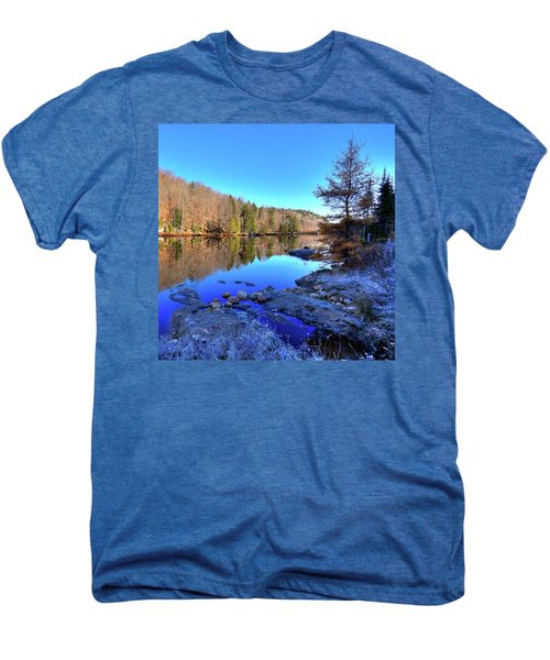 Men's Premium T-Shirt featuring the photograph A November Morning On The Pond by David Patterson